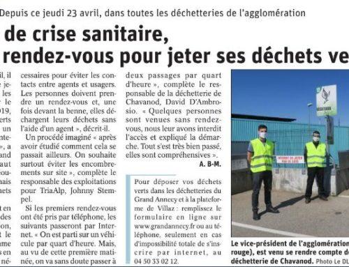 De nouveau possible de jeter les déchets verts dans les déchetteries du Grand Annecy
